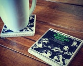 Night Of The Living Dead Vintage Horror Movie Poster Tumbled Chiaro Tile Coaster Single, Set of 2 or 4