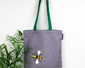 Bee Tote Bag, Bumble Bee Bag, Kids Book Bag, Bee School Bag, Bumble Bee Gift, Kids Gift, Gift for Bee Lover, Insect Beach Bag, Bee Shopper