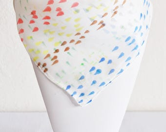 """Small silk scarf designed by hand, """"Pixel"""" number 5"""
