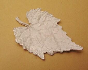 leaf casting, silver cast, grape leaf, finding, sterling silver, raw casting UL031