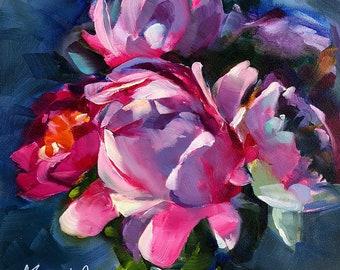original peony art | original peony painting | peony art | peony painting | original art | original painting | floral art | floral painting