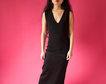 Black Maxi Stretch Dress - One Size