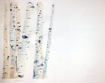 Birch Tree Watercolor