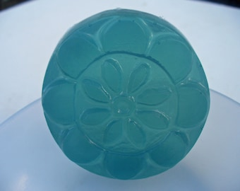 Guest Soap - tea tree oil - glycerin soap  -  blue soap - flower shaped design - travel size - trial size