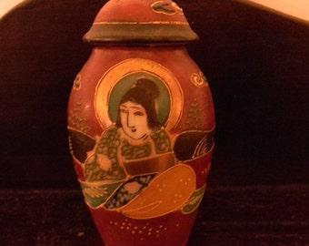 Vintage Hand Painted T T Japanese Porcelain Vase