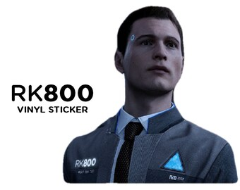 RK800 Connor Android Vinyl Decal/ Sticker (Detroit: Become Human) *Multiple Color Choices + Sizes!*