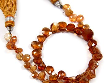 Natural Hessonite Garnet Gemstone,Faceted Fancy Beads,Wire Wrappped Making Jewelery,Gemstone Size 4-6 mm,Full 1 Strands X 8 inches,BL-55