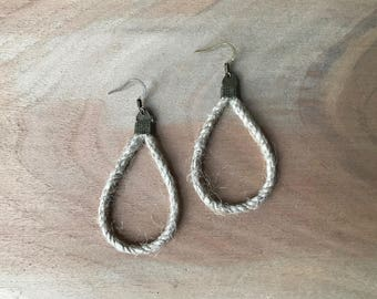 Jute Loop Earrings