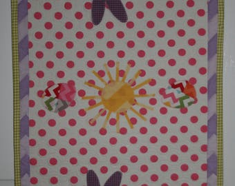 Handmade Quilted Appliqued Easter Bunny Table Runner