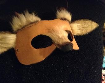 Fantasy Leather Faun Mask
