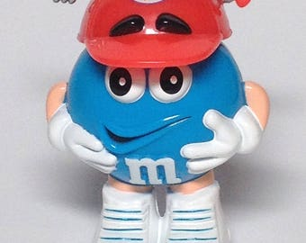 Vintage M & M Valentine container - Be Mine Baseball Cap with Cupids Arrow Thru it - for candy or other special surprises