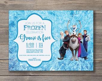Frozen Birthday Invitation, Digital File