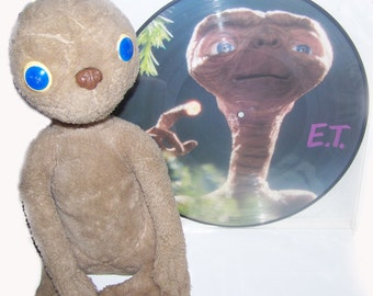 Record Vinyl soundtrack from the official movie 1st edition et the alien from 1982 and his teddy official year 1982