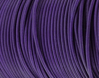 2MM Round Leather Cord - Majestic Purple - 5M/5.46YD - High Quality European Leather Cord