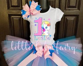 pink unicorn birthday tutu outfit