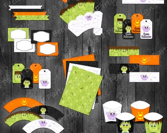 Halloween Party Kit - Instant Download