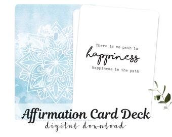 Affirmation Cards Inspirational Buddha Quotes Spiritualy Card Deck