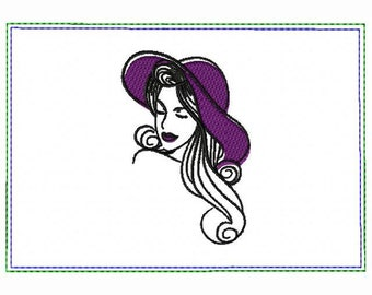 Modern Ladies 06B Small Money Purse - In The Hoop Machine Embroidery Design