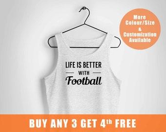 Game Day vest, Football vest, Womens vest, Life is better with football vest, Sporvest, Fun Day vest,