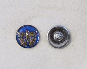 """Czech Glass Butterfly Button - 7/8"""" - 2 for 2.00 - #896"""
