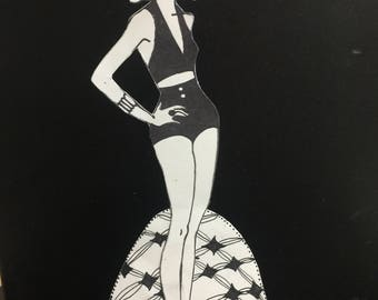 "Retro Paper Doll - ""Trudy"""