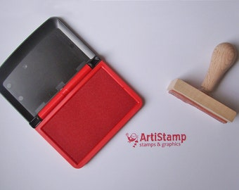 Red COLOP Micro 1 INK PAD, Dye Ink Pad, Craft Ink, Stamp Pad, Rubber Stamping, 5x9cm
