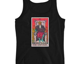 Emperor Tarot Card Ladies' Tank Top Metaphysical Psychic Third Eye Meditation Occult Shirt