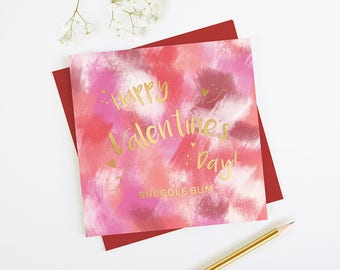 Gold Foil Valentine's Day Card Personalised