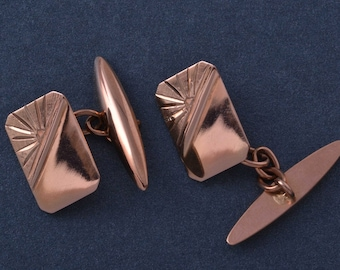 9ct Rose Gold 1930's Cufflinks (768p)