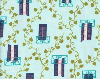 Cotton + Steel Kim Knight Homebody 3004 2 Windows and Vines on Blue by the yard