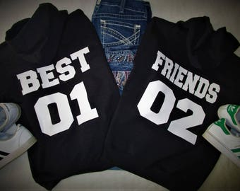 Best Friend Matching Hoodies
