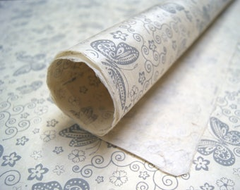 Butterfly Garden pattern handmade Wrapping Paper gift wrap 3 sheets