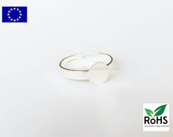 7mm - Silver colored - 1 or 10 Rings - Made in Europe