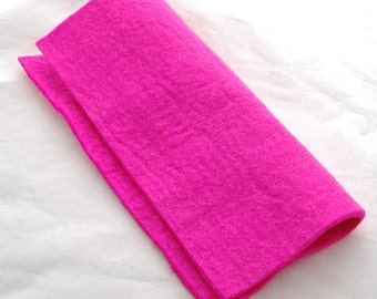 """100% Wool Felt Fabric - Approx 3mm - 5mm Thick - 30cm / 12"""" Square Sheet - Hot Pink"""