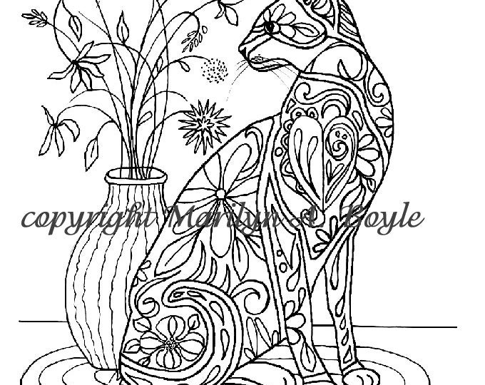 Set of five ADULT COLORING PAGES; digital downloads, flowers, butterflies, owl, leaves cat