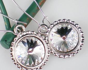 Crystal Rivoli Rhinestone Earrings Swarovski Jewelry