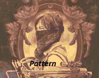 Daryl Dixon #4. Cross Stitch Pattern. PDF Files.