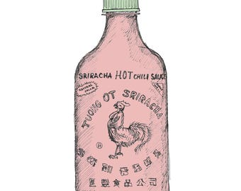 Ink Sketch of Sriracha