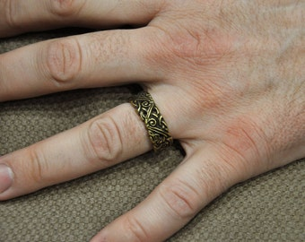 """Bronze """"Force ring"""" in ancient viking style"""
