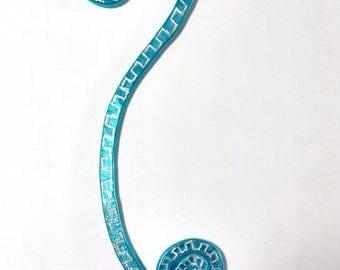 Bookmark blue color aluminum decorated