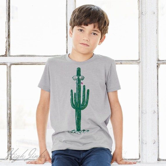Cool as a Cactus : Kid's Unisex Soft Blend T-Shirt