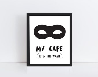 Superhero Printable Art - Superhero Print - Superhero Wall Print - Superhero Nursery Art - Superhero Wall Art - Superhero Room Decor