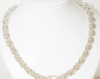 HANDMADE Solid Sterling Silver Chain Necklace