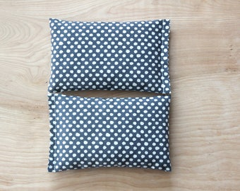 Grey White Dot Lavender Scented Sachets for Drawers, Organic Lavender Bags