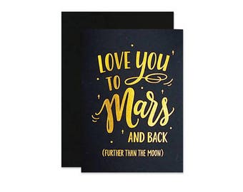 Love You to Mars and Back Card
