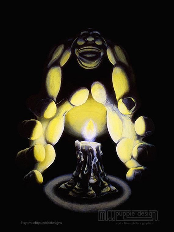 Candle Light FANTASY Artwork Painting creative wall decor