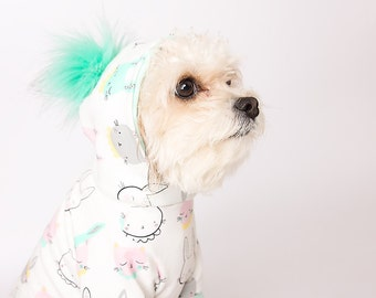 Handmade Dog Hoodie (clothes for small size dogs) dog sweater, Dog clothes