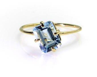 Aquamarine ring .