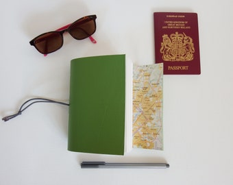 Washington Travel Journal Notebook Diary, New York Map Journal, Travel Holiday Notebook, Travel Gift Scrapbook, leather Wedding Anniversary,