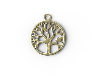 tree of life  , 14kt yellow gold